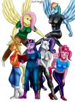 MLP - Mane 6 by LukeWolfy