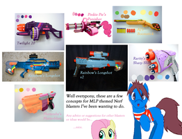 MLP Nerf Blasters set 1 by Waldo-xp