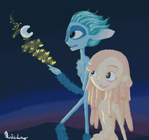 Mune and Glim on Twilight by Misticdaisy