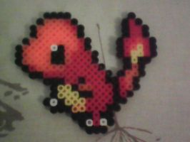 Charmander in Perler Beads by CaptainStonebelly