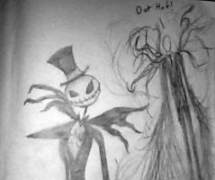 Jack Skellington and Slender man by karo666