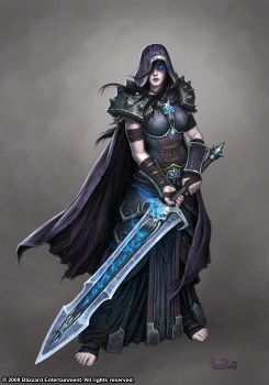 Female Death Knight by GlennRaneArt