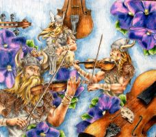 Vikings, Violins, and Violets by ForNowWeToast