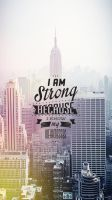 Motivational Wallpaper for iphone5/5s by PimpYourScreen