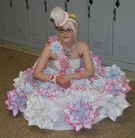Sitting Down In My Origami Dress by Lovely-LaceyAnn-Art