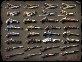 Pirates Assualt ranged weapons by sash4all