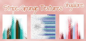 Stripe Grunge Textures by ohgalore