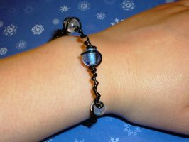 Glass Beads Spiral bracelet by beadsofcompassion