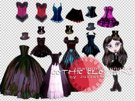 Gothic Clothing Pack 1 by julietawild07