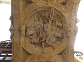 bas-relief of Christ as the Good Shepherd by 4ajka
