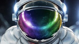 Rainbow Spaceman by PureDeluxe