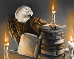 area eagle starts library fire by Appletail