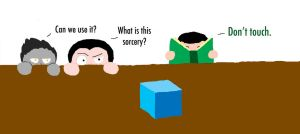 Dracula and Pitch vs. Loki's Tesseract by Draccyvangirl7