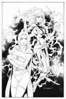 Jean Grey  Emma Frost commission by aethibert