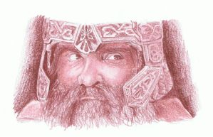 Gimli - The lord of the rings - colored pencil by miemotio