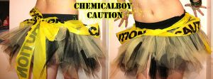 Caution tape skirt by kidwithscissors