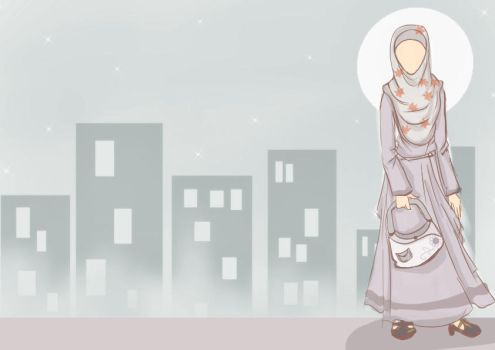 muslimah in the city moon by fiyalayanfa2