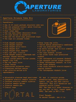 Aperture Science Cake Mix by nizmoe