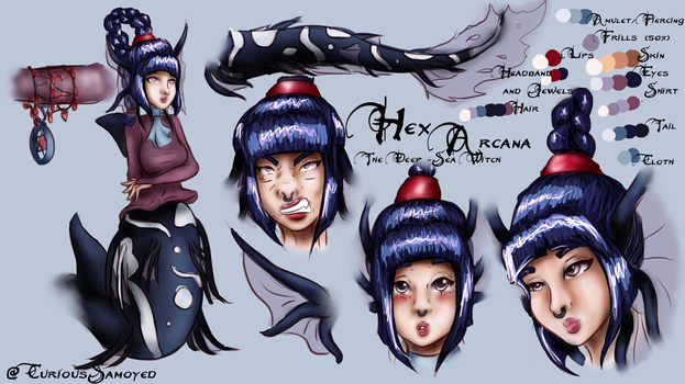 Hex Arcana, The Deep-Sea Witch. by CuriousSamoyed