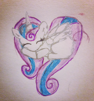 Heart Pony~Princess Flurryheart by TheLivingDictionary