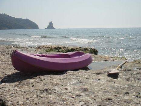 Boat ashore by artINvein