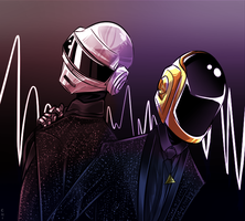Kiriban: Daft Punk by ChikitaWolf