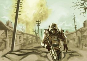 Fallout 3 Speed painting by lookhappy