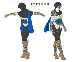 Custom Female Outfit - Assassin Lady by ShadowInkAdopts