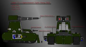 TX-1 Super Heavy Experimental Tank by 0verlordofyou