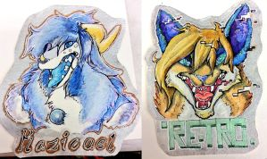 Iridescent Badges by CockatriceKING