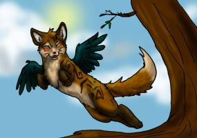 Flying cat thing... by firedanceryote