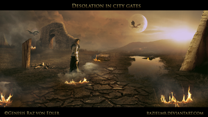 Desolation in city Gates by RazielMB
