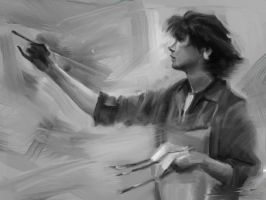 Master study Richard Schmid by wolfnoom