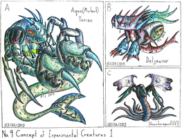 Concept of Experimental Creatures 1 by Unialien