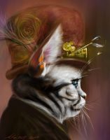 Steam punk Kitty PS by nosoart
