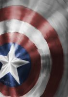 Cap's shield by spacedweller