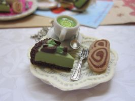 Mint Cake and Tea Cup Necklace by CandyChick