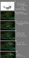 Swamp Dragon step by step - tutorial. by elicenia