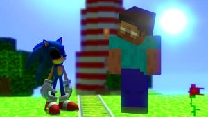 EXE Sonic meets Herobrine by Legoguy9875