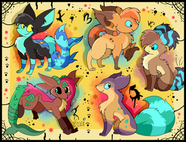 5 Free creature adoptables CLOSED by Roxalew