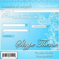 Blue dreams theme skype by candybubblesweety