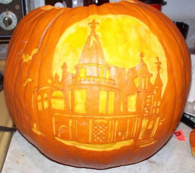 Haunted House O Lantern by attemptanything