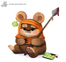 Daily Paint #1119. Tickle me Ewok by Cryptid-Creations