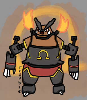 Emboar Pokebot by TheGodOfTrouble