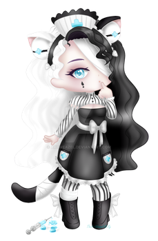 Lunathyst - AT for Character (chibis) = Medi-Borg by ArtWeazel