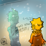 Draw with Lisa Simpson by Triple-Q