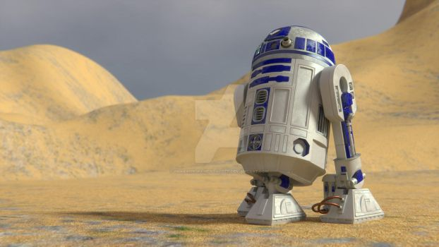 R2-D2 by Pharaoh-Hamenthotep