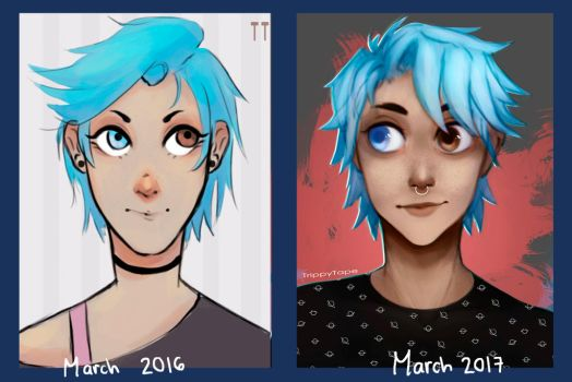 before and after by TrippyTape