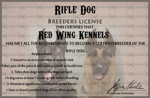 Rifle Dog License by BV-Academy