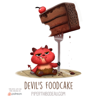 Daily Paint 1558. Devil's Foodcake by Cryptid-Creations